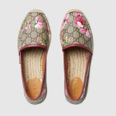 Shop the GG Blooms Supreme espadrille by Gucci. A platform espadrille in our GG Blooms Supreme print.