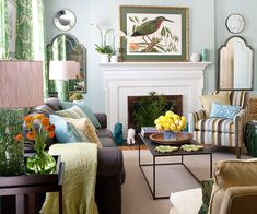 Love this room! The mix of colors and textures is fabulous