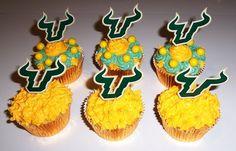 USF Bulls Cupcakes