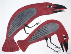 Red Ravens  Kenojuak Ashevak http://www.inuit.com/?p2=/modules/xgalleries/showgallery.jsp=138=4