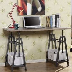 Homestar Height Adjustable Writing Desk & Reviews | Wayfair