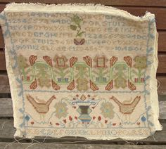 Lovely hand made tapestry sampler.  ready to reuse in a craft project.