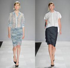 Joe Fresh 2014 Spring Summer Womens Runway Collection - World MasterCard Fashion Week Toronto Ontario Canada - Frayed Lace Embroidery Denim ...