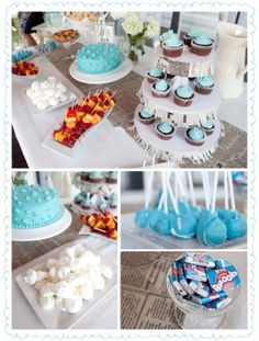 #3 Photo Set.  Notice the crossword puzzle around the cupcake stands -- super cute! :o)  Blushink_VintagePaperBoy_1stBday9