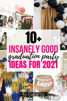 Omg, my high school graduation party was going to be a mess, but thanks to this post I have some pretty good ideas now and I can't wait to make it all happen! Outdoor Graduation Parties, High School Graduation Gifts, Graduation Party Decor, Graduate School, High School Girls, School Boy, Graduation Cap Designs, School Signs, Graduation Pictures