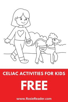 These celiac activities for kids really help kids engage with their diagnosis -- and they're FREE! Coloring Sheets For Kids, Animal Coloring Pages, Coloring Pages For Kids, Activities For 5 Year Olds, Preschool Activities, Adhd Kids, Children With Autism, Celiac Disease In Children, Reading Adventure