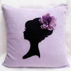 Shabby chic lady portrait floral headpiece by smilingcloud on zibbet Purple Cushion Covers, Purple Cushions, Black Pillow Covers, Black Cushions, Decorative Pillow Covers, Girls Room Organization, Flower Headpiece, Fantasy Bedroom, Diy Pillows