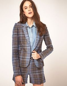 NW3 Checked Blazer/Short Suit