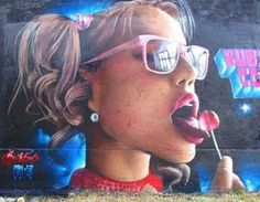 Street Art by Bublegum, located in Madrid, Spain