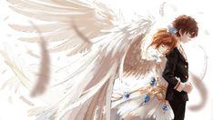 Sakura and Syaoran Cardcaptor Sakura Clear Card, Sakura Card Captor, Sakura Kinomoto, Syaoran, Sakura Sakura, Kawaii, Manga Anime, Anime Kiss, Anime Angel Girl