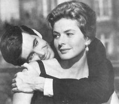 Anthony Perkins and Ingrid Bergman