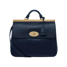 Mulberry - Suffolk in Midnight Blue Shrunken Calf