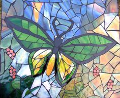 butterfly mosaic by siriusmosaics, via Flickr