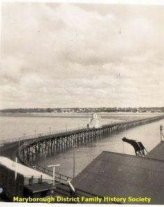Urangan Pier Trundle Bed Frame, Historical Photos, Past, Patterns, History, Log Bed Frame, Historical Pictures, Block Prints, Past Tense