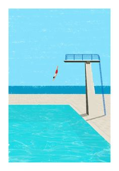 December 2014 ☞ Illustration ☞ is a freelance illustrator based in Freiburg, Germany. Minimal illustrations of solitary figures at the beach or by the swimming pool. Comics Illustration, Flat Illustration, Illustrations And Posters, Digital Illustration, City Poster, Art Plage, Grafik Design, Pop Art, Art Drawings