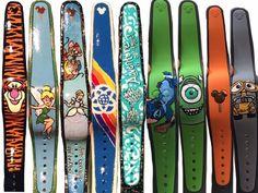 Even more hand painted magic bands! Disney Honeymoon, Disney Vacation Planning, Disney Vacations, Disney Trips, Vacation Ideas, Disney Diy, Disney Love, Disney Pixar, Disney Crafts