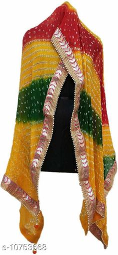 Checkout this latest Dupattas Product Name: *Rajasthani Ethnic Art Silk Blend Bhandhej Bandhani Stylish Partywear Festival Casual Dupatta 2.25 meter Multicolor* Fabric: Silk Blend Pattern: Self-Design Multipack: 1 Sizes:Free Size (Length Size: 2.25 m)  Easy Returns Available In Case Of Any Issue   Catalog Rating: ★4 (1269)  Catalog Name: Alluring Trendy Women Dupattas CatalogID_1977986 C74-SC1006 Code: 123-10753668-807