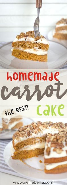 This is the BEST carrot cake recipe out there. Easy, classic, and delicious. Just like Grandma's! You will never look for another one again! via @huttonjanel