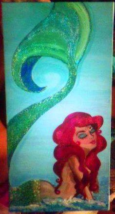 my mermaid painting! ~lauren king