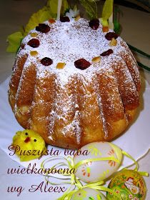 W mojej kuchni: Puszysta baba wielkanocna wg Aleex Christmas Appetizers, Polish Recipes, Easter Recipes, Almond Flour, French Toast, Food And Drink, Cooking Recipes, Pudding, Sweets