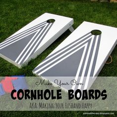 Painted Therapy: DIY Cornhole Boards (AKA: Making your husband happy)