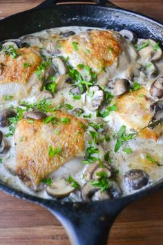 Chicken Thighs Marsala