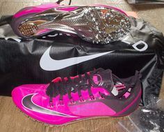best service 1e405 4544a NEW NIKE ZOOM SUPERFLY R4 Track Field Spikes MENS 10.5 Pink Foil 130 NIB  Nike TrackCleats