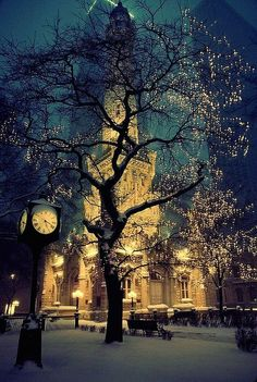 Snowy Night, Chicago, Illinois gotta love the beauty of the water tower ❤️ Beauty Around The World, Places Around The World, The Places Youll Go, Places To Go, Around The Worlds, Beautiful World, Beautiful Places, Beautiful Pictures, Beautiful Sky