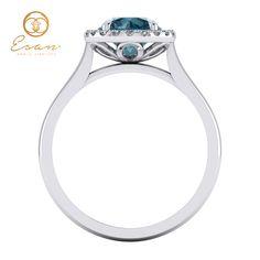 Inel de logodna din aur cu diamant albastru ES151