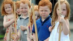 People  have red hair when they are born with two copies of a recessive gene on chromosome 16 ..