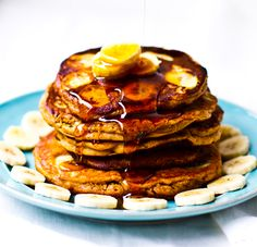 Peanut Butter Banana Oat Pancakes. - Healthy. Happy. Life. #vegan