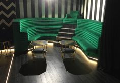 Some banquette seating installed by Zinc Interiors at Cirque Le Soir nightclub london. How to make a statement with seating!