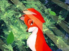 "Fox+&+Hound+Love+Scene | Fox and the Hound"" Vixey by ~AbyssOkami on deviantART"