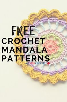 Learn how to crochet a mandala! This collection of free crochet manadala patterns includes projects for beginners and intermediate crocheters. Quick Crochet, All Free Crochet, Love Crochet, Learn To Crochet, Crochet Ideas, Knit Crochet, Afghan Crochet, Crochet Tutorials, Beginner Crochet Projects