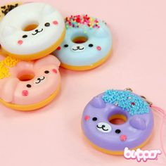 These phone charms are cute animal doughnuts with kawaii animal faces. The charm includes a removable phone strap, so you can attach it to hang almost anywhere. So cute you almost want to take a bite!