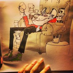 You know when you didnt get sleep for no good reason? THATS ME HAHAHAHAHAHAHHAHAHA FUCK MY LIFE #ink #inktober #inktober2015 #dog #couch #coffee #art #sketch #doodle #illustration #characterdesign #character #animation #tired #friday #tgif #instagood #fml #instaart #artistsoninstagram #sunmininn by sunmininn