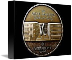 "Patek Philippe Geneve Commemorative Medal Coin (Front) $66 // Style: Soft Edge Canvas Print; Size: Petite 8"" x 10"" // Visit http://www.imagekind.com/Patek-Philippe-Geneve-PPG_art?IMID=5cad76ca-2632-4430-9e1b-71f73e27c714 for product details."