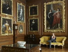 Diana's brother, Charles Spencer in the Picture Gallery at Althorp