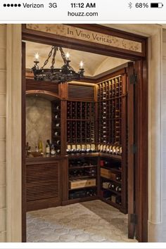Love this wine cellar! Want something similar for one wall in my dining room:)