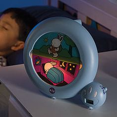 "Another pinner wrote, ""One of the best inventions ever created!! An alarm clock that a child can understand...and keeps my son in bed until his bunny wakes up!"" :-)"