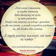 """""""#kamilarowinska #kobietaniezalezna #motywacja #inspiracja #coaching"""""""