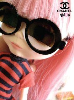 Chanel Glasses for Blythe doll. $18,00, via Etsy.