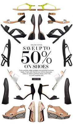Hot days, cool shoes with off Layout Online, Newsletter Design, Newsletter Ideas, E-mail Marketing, Pop Design, Sale Banner, Email Design, Grafik Design, Web Design Inspiration