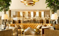 Commercial Interiors. The Tides in Miami Beach.  Designer: Kelly Wearstler.