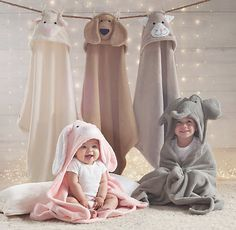 Animal Hooded Towel - Baby from RH Baby & Child. Saved to b@by〽️ústH@vés #baby
