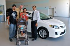 Ruth with her family and her new Corolla S