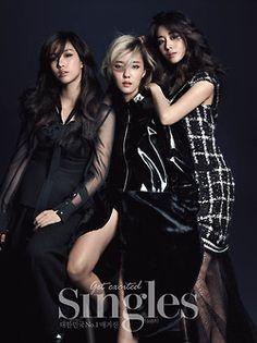 T-Ara Eun Jung, Hyo Min and Ji Yeon - Singles Magazine November Issue 14