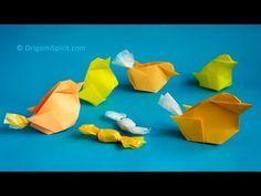 Paso a paso para hacer un pollito en origami –Es pollito y es cajita!