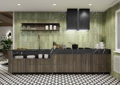 Cinque Terre - Serie - Mainzu cerámica Cinque Terre, Bathtub, Kitchen, Shades Of Green, Standing Bath, Bathtubs, Cooking, Bath Tube, Kitchens