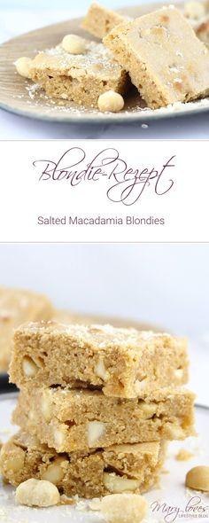 Blondie-Rezept - Salted Macadamia Blondies